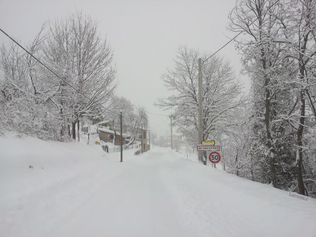L'hiver à  Briançonnet