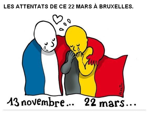 Bruxelles ma belle… soutien à la Belgique meurtrie.