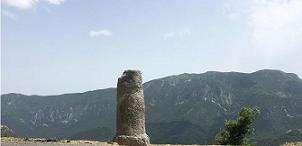 Restauration de la borne milliaire du col du Buis